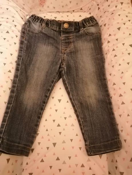 Spodnie jeansy 80 dla dziewczynki