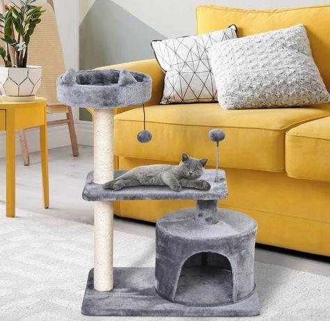 Drapak dla kota 3 poziomowy jaskinia dla kota
