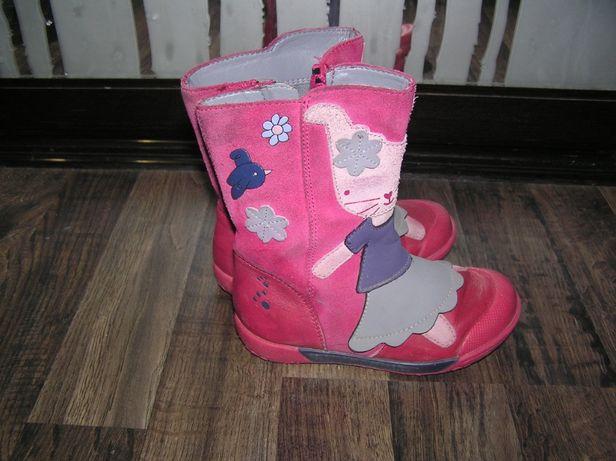 Сапожки Clarks сапоги демисезонные деми кожаные для девочки