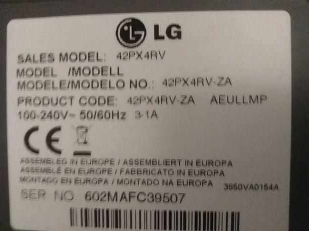LG 42PX4RV-ZA uszkodzony