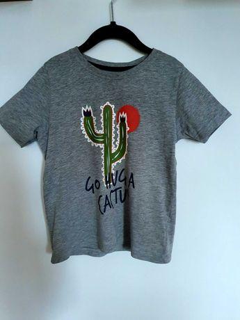 Koszulka szara z krótkim rękawem rozm 110 / 116. Stan idealny