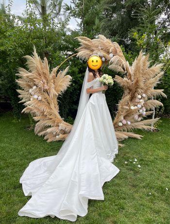 Платье свадебное MillaNova атласное. Свадебное платье.