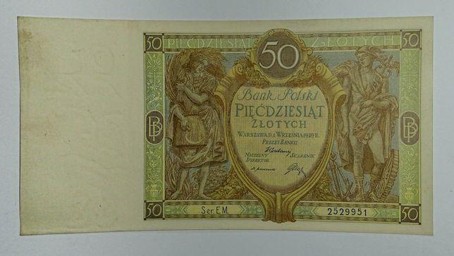 banknot 50 złotych 1929r.