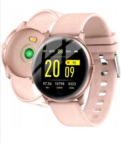 Smartwatch KW19 różowy zegarek do iphone samsung huawei