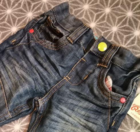 Spodnie jeans nowe z metka rebel 9-12 9-36 wysyłka