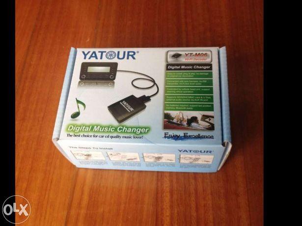 Interface mp3 usb audi vw seat skoda simulador cd yatour 12 pinos