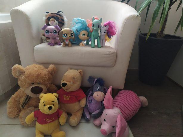 Zabawki, maskotki, figurki, pony, littlest pet shop, puchatek