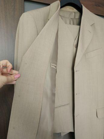 Piękny garnitur KONIK - 3 częściowy kolor piasek
