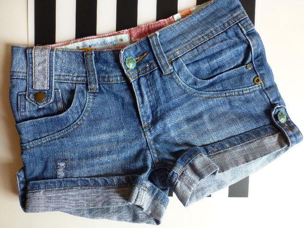 Spodenki szorty jeansowe dżinsowe XS S 34 36