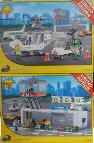 Klocki Cobi nie LEGO helikopter i port lotniczy samolot gratis