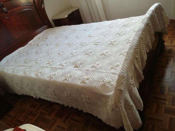 Colcha em Crochet para Cama de Casal