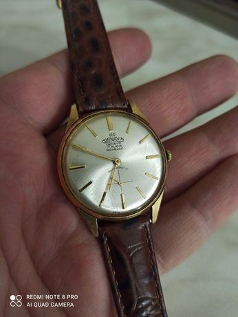 Часы Cornavin Geneve швейцарские Incabloc, годинник СССР 17 камней ау