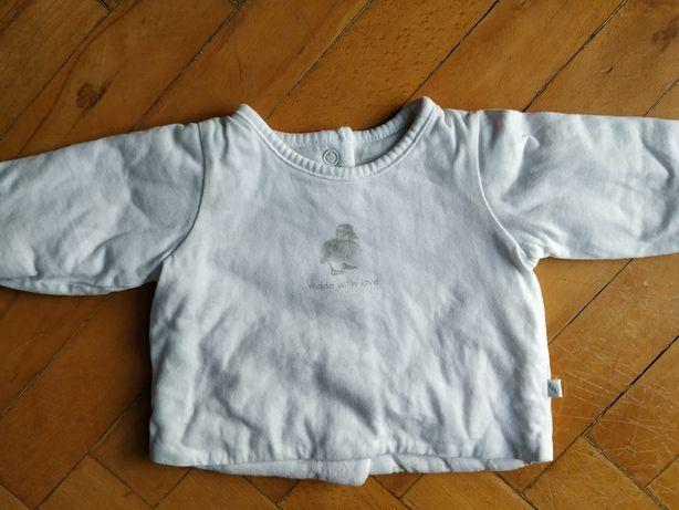 Ocieplana bluzka / kaftanik dla niemowlaka