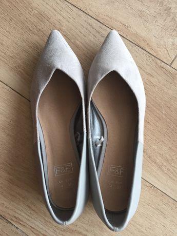 Buty baleriny pantofle  zamszowe F&F Zara 37 nowe