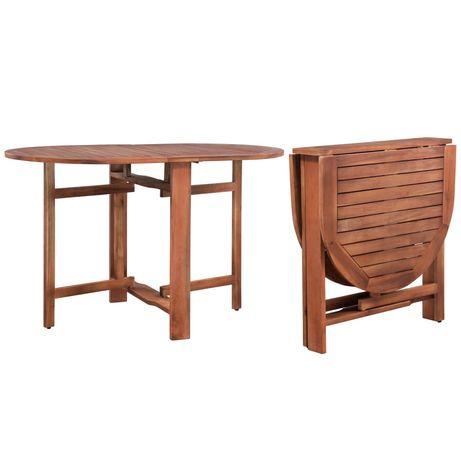 vidaXL Mesa de jardim 120x70x74 cm madeira de acácia maciça 315944