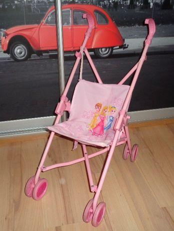 Disney Princess księżniczki wózek parasolka dla lalek dla dziewczynki