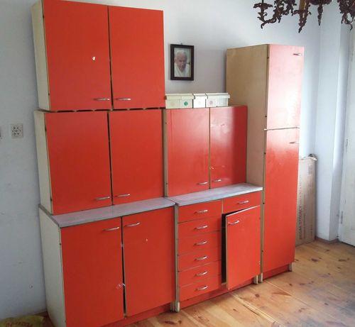 Mebke Kuchenne 6 elementów Czerwone (szafki)
