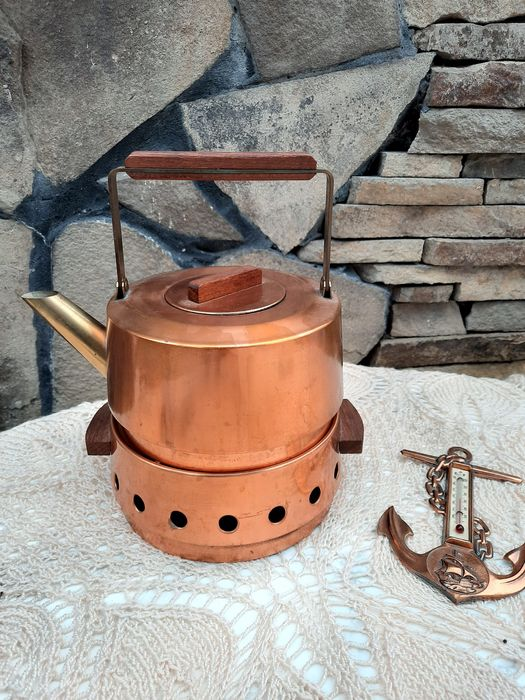 Медный чайник с подогревом / мідний чайник медь Новоград-Волынский - изображение 1