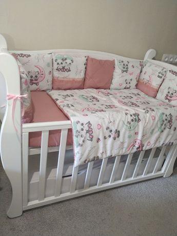 Новый набор детского постельного белья в детскую кроватку (в упаковке)