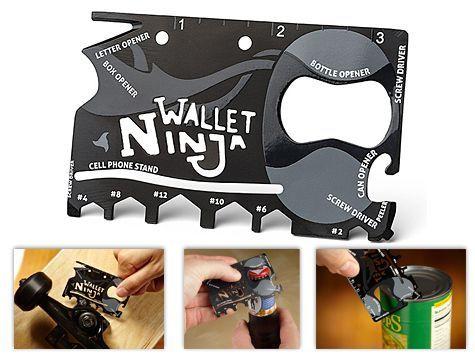 Ninja Wallet Karta Survivalowa Przetrwania 18 w 1 ETUI GRATIS EDC ASG