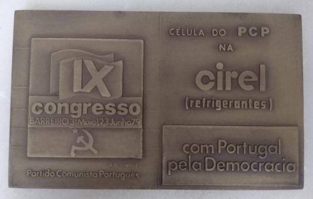 Medalha antiga do Partido Comunista Português