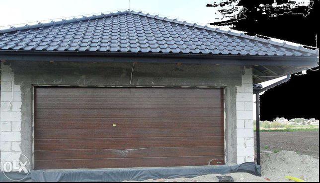 Brama garażowa segmentowa / 5000 x 2100 / orzech / automat