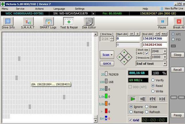 HDD 800GB Western Digital Green