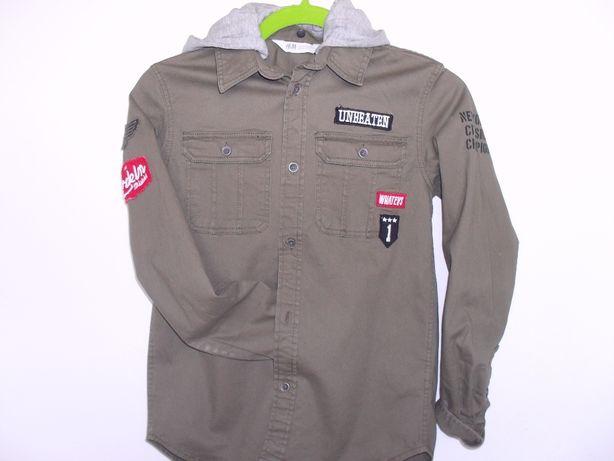 Nowa firmowa koszula dla chlopca hit styl militarny