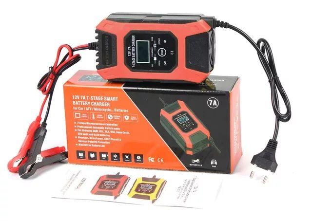 Зарядное устройство для авто мото аккумулятор Foxsur 7А 12В автоматиче
