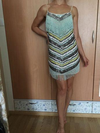 Яркие платье латина летнее пляжный сарафан 44р-р, рост 170