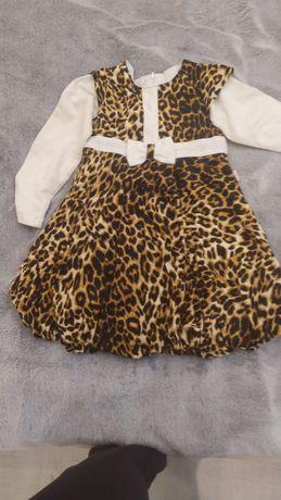 Платье детское, рост 134, мягкий бархат