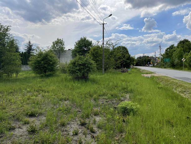 Działka budowlana wzdłuż drogi asfaltowej 1636 m2 - gmina Halinów