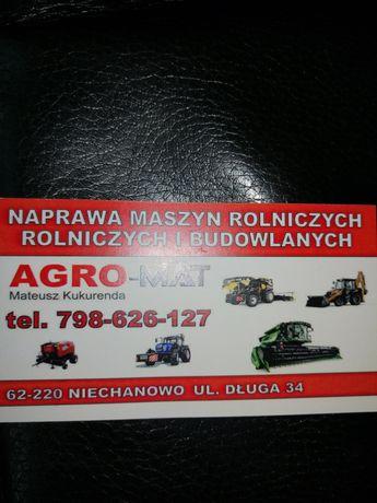 Naprawa ciągników i maszyn rolniczych, maszyn budowlanych, ladowarek