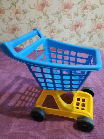 Тележка для магазина детская пластиковая