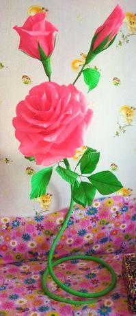 Гигантская (большая) ростовая роза для фотосессии. Продажа или аренда