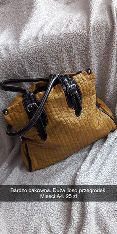 Duza torba musztardowa