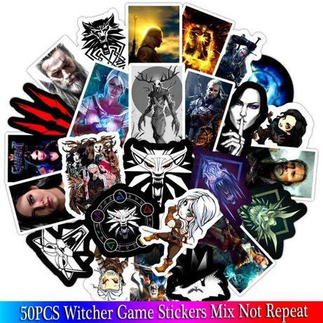 """Witcher 50шт\Набор! Наклейки """"Ведьмак"""" стикеры глянец фильмы игры PS4"""