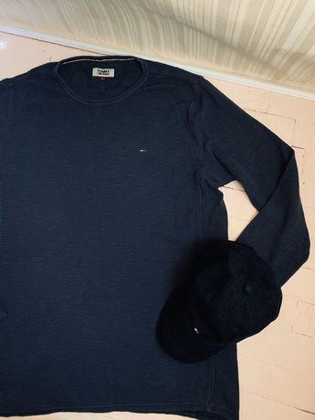 Мужская кофта tommy hilfiger томми хилфигер томми большой размер синяя
