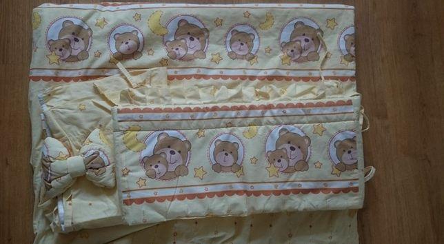 4 elementy pościel do łóżeczka dziecięcego do łózka dla dziecka misie