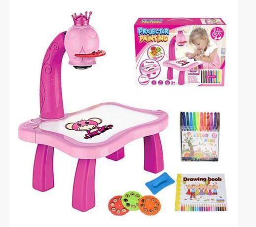 Детский стол проектор для рисования с подсветкой
