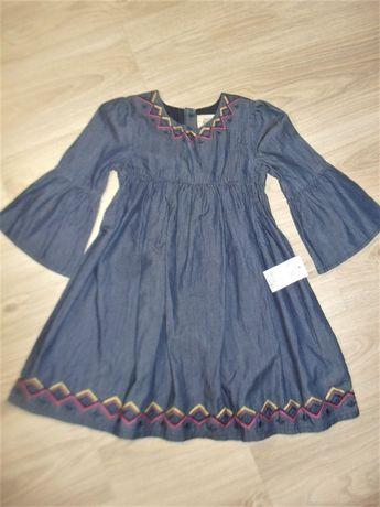 Джинсовое платье на 6-7лет рост 122