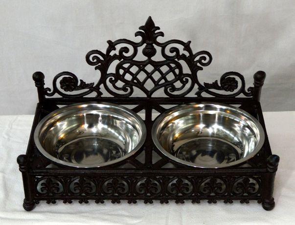 Miska podwójna dla psa lub kota /Meble Stylowe Grodzisk Mazowiecki
