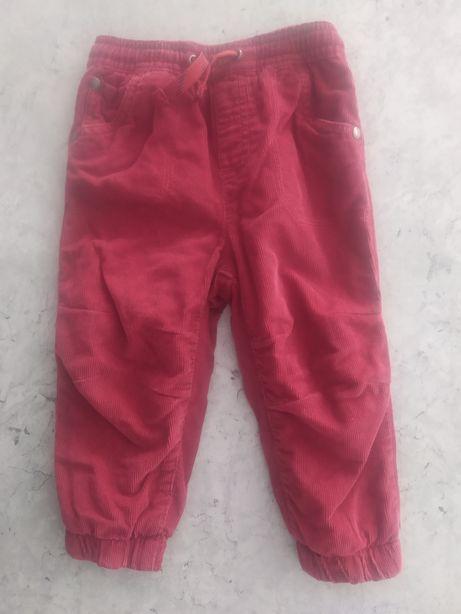 Вельветовые брюки с утеплением 350 р.