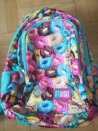 Plecak+piórnik St.Right donat