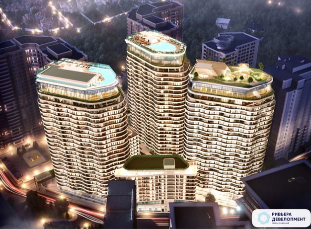 """В продаже Видовая Студия.  ЖК """"Unity Towers"""". 15 этаж. Аркадия"""