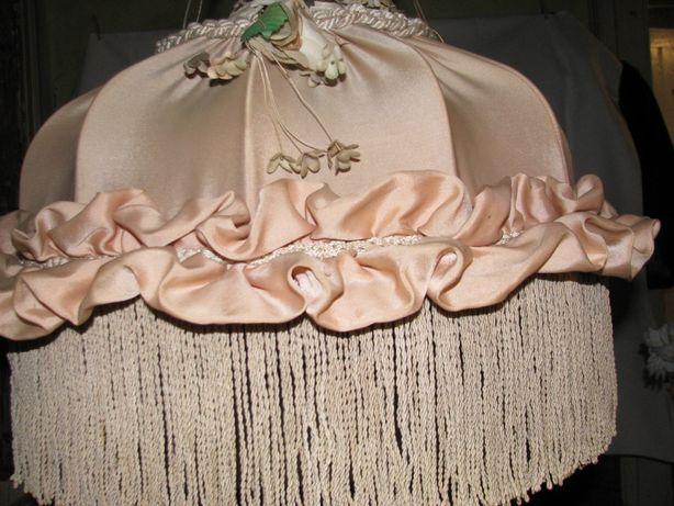 Люстра тканевая с плетением