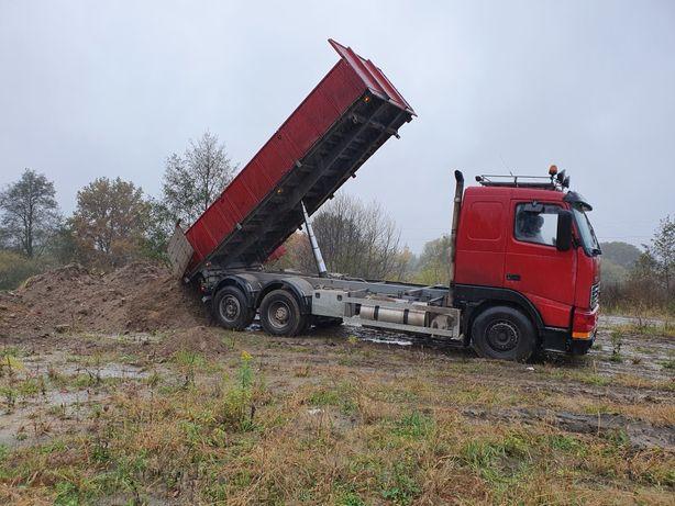 Transport Wywrotka 14t Oława Kontenery gruz kruszywa suchy beton
