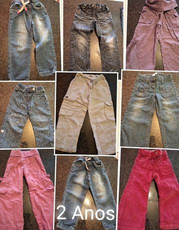 Lote calças 2 anos