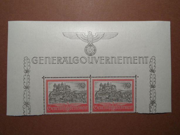 GG góra arkusza Generalna Gubernia znaczki pocztowe