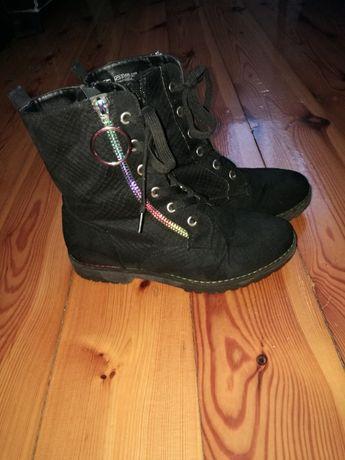 Buty wysokie dziewczęce